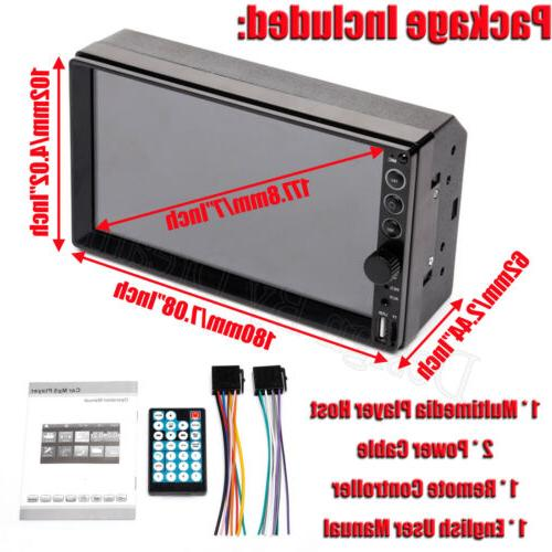 Bluetooth Player Radio Car MP5 Screen Free Camera