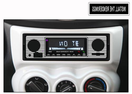 Bluetooth Vintage FM Radio Player AUX Classic Receiver