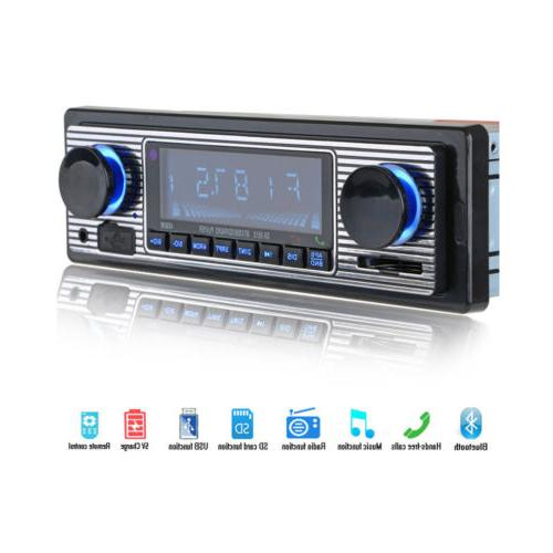 Bluetooth Vintage Car FM Radio MP3 Player USB AUX Classic St