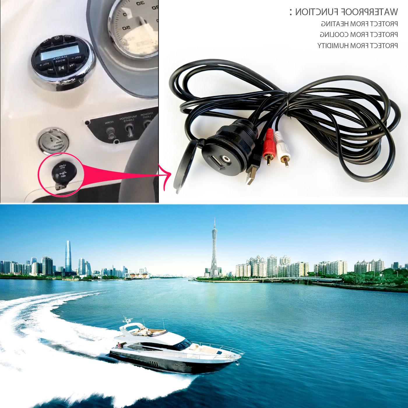 Boat Car Stereo Radio USB Extension Cable Marine Dash Mount