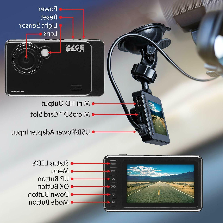 """BOSS Audio Car Dash 2.7"""" 1080P DIY"""