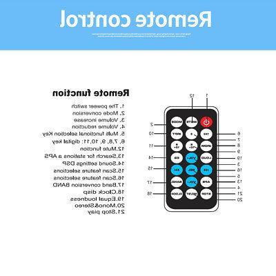 BT Car Radio Audio Receiver FM MP3 Player Port F6U2