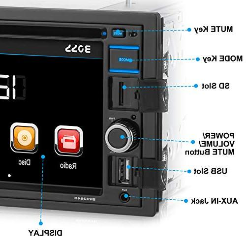 BOSS BV9364B Car Double Din, and Free 6.2 Touchscreen Monitor, Player, CD, DVD, AUX Input, AM/FM Receiver