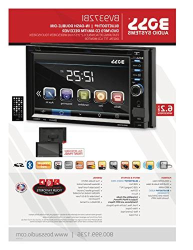 BOSS Double Din, Touchscreen, AM/FM Car Inch Digital Detachable Wireless Remote