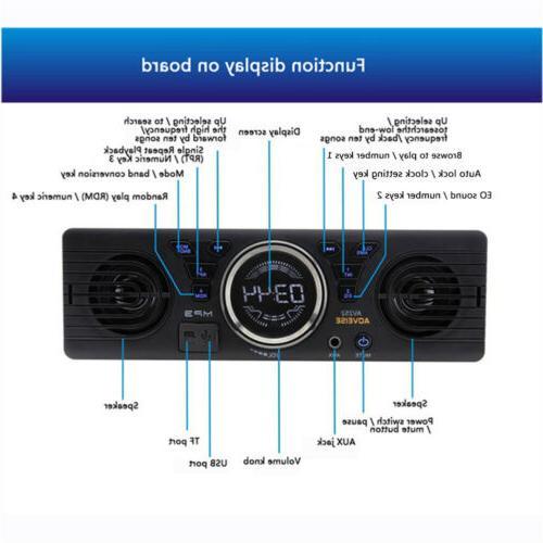 Car Audio Dash AM FM Input Receiver SD USB Radio