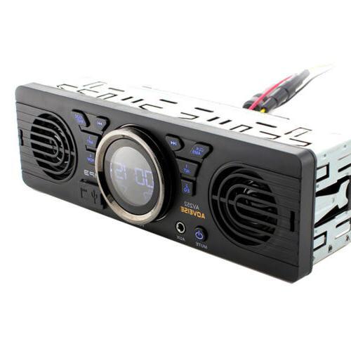 Car Dash AM FM Input Receiver with SD USB Radio