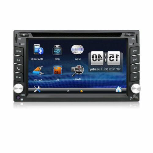 Car Double 2DIN Dash Radio Navi +Map