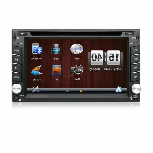Car DVD Player Double 2DIN Car In Dash Auto Radio GPS Navi
