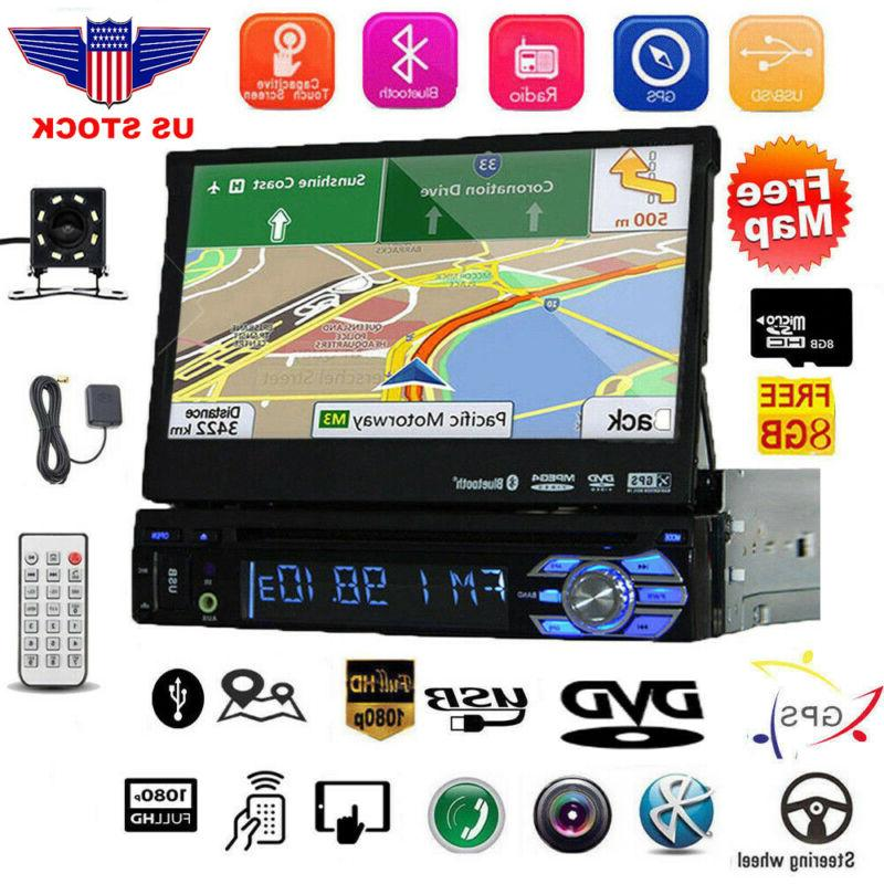 car radio 7 1 din audio retractable