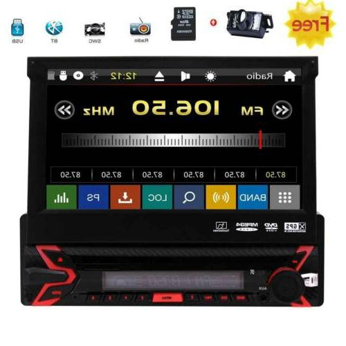 Eincar Single 1 Din Car Stereo with Bluetooth 7 inch Flip Ou