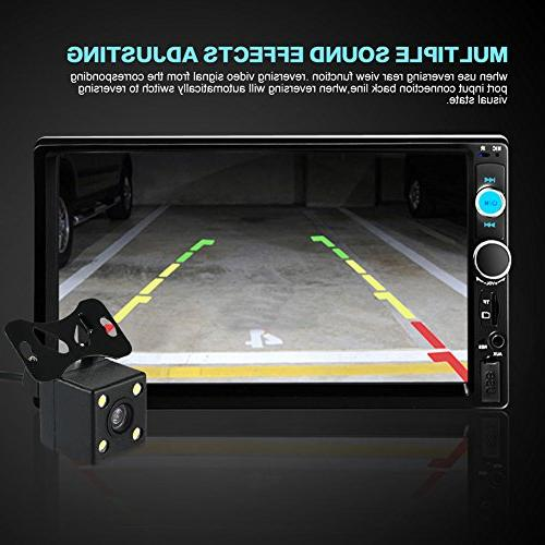 Car Rear View + Din In Dash Stereo Audio Video Radio Mp3 / / USB / AUX-in / +