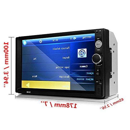 Car View + Din Dash Stereo Receiver Video Bluetooth FM Radio Mp3 / / Steering +