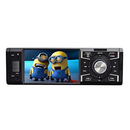 4.1 with Bluetooth Single Car stereo Radio Car player Video USB SD Card Wireless Remote