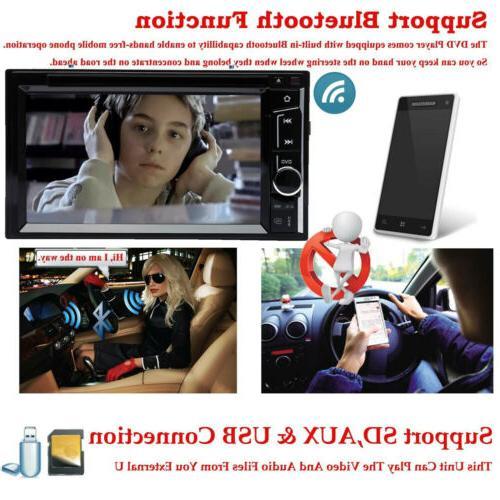 "Double 6.2"" Car Stereo DVD Dash Radio"