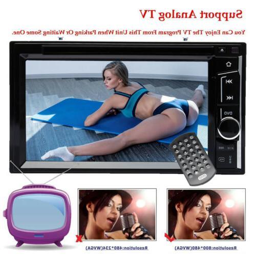 Double Car Stereo MP3 Dash Bluetooth FM Radio