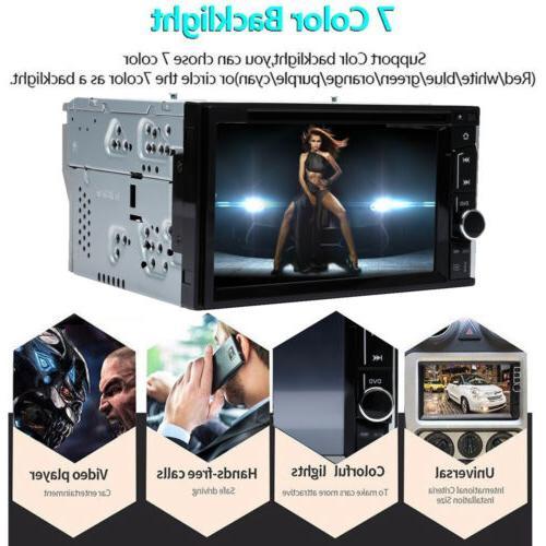 "Double 2 6.2"" Car Stereo DVD CD MP3 Player Dash Bluetooth Radio"