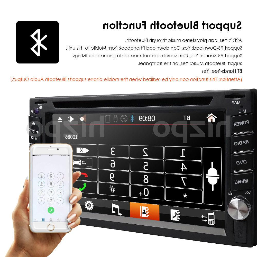 Car Stereo GPS Navigation Bluetooth Double Din Player