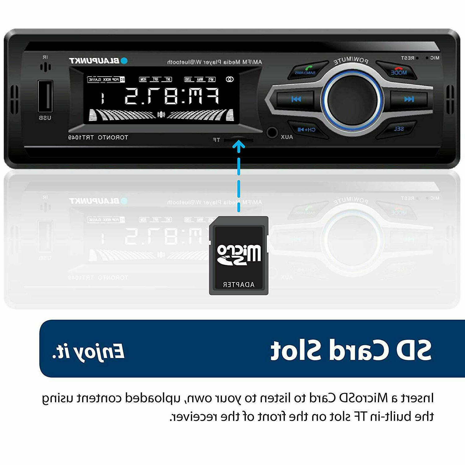 Blaupunkt Receiver Audio Bluetooth Enabled LCD