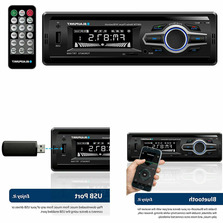 Blaupunkt Car Stereo Media Receiver USB AUX Radio Audio Blue