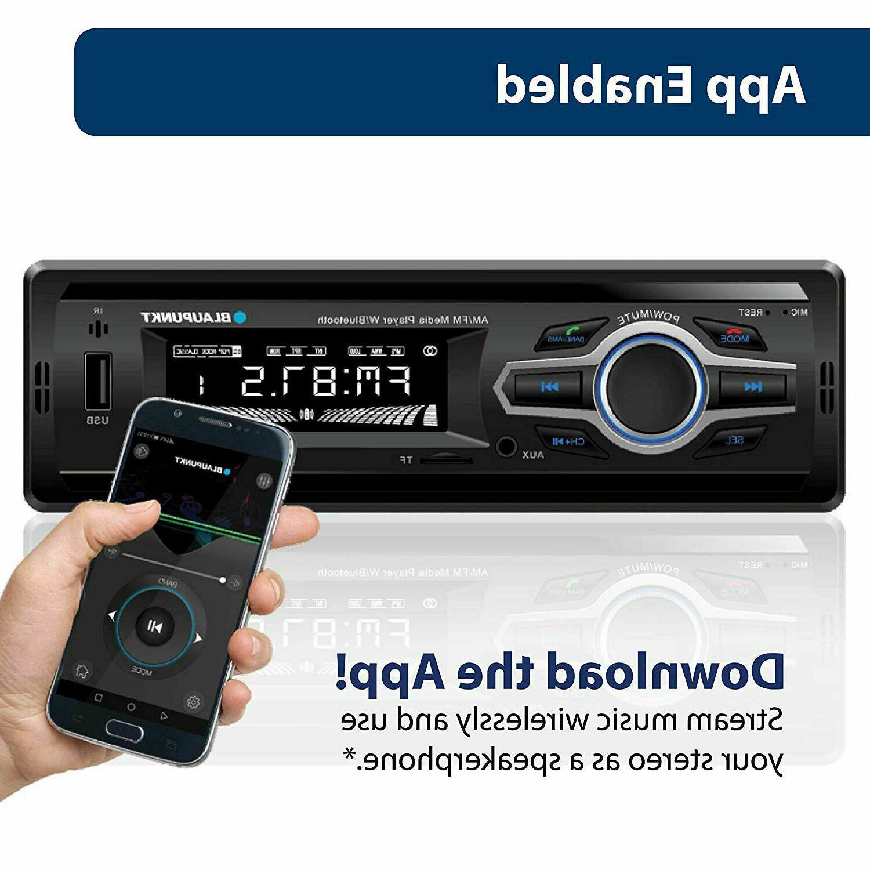 Blaupunkt Receiver USB AUX Audio Bluetooth LCD