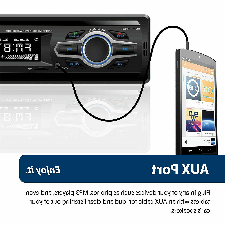 Blaupunkt Car Stereo Receiver USB AUX Audio Bluetooth
