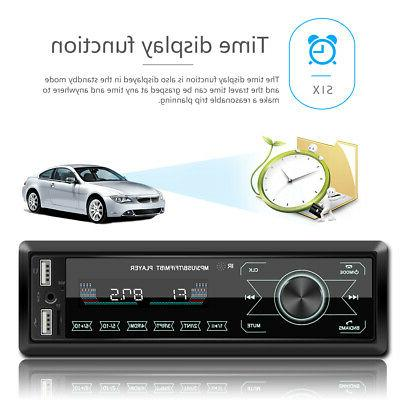 Car MP3 Bluetooth AUX FM Audio Handsfree MIc.