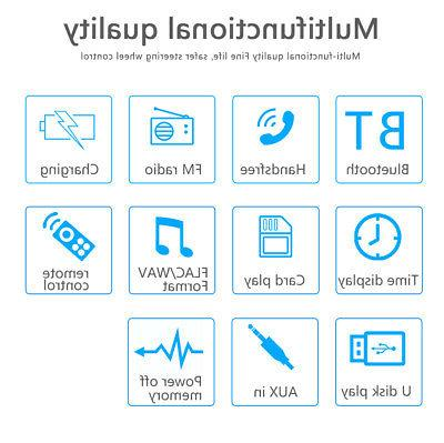 Car Stereo MP3 Bluetooth FM Audio Handsfree MIc.
