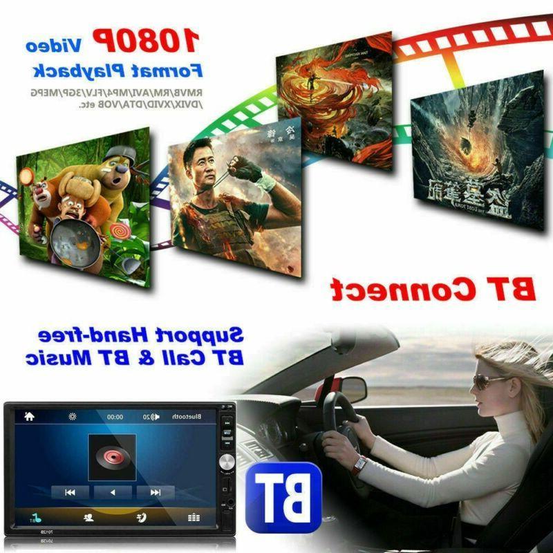 🔥Car Radio DIN MP5 FM Touch AUX With Rear U