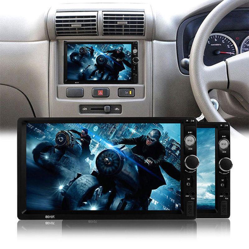 "Car Radio Bluetooth Audio Receiver Touch 7"" AUX TF"