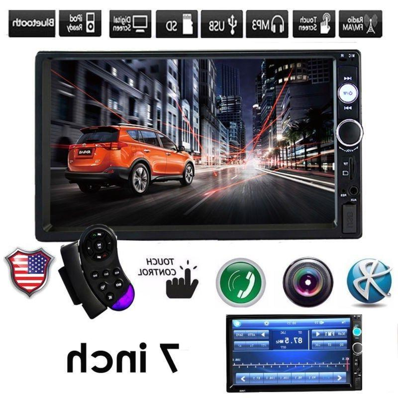 Car Stereo Bluetooth Audio Receiver Double Touch USB AUX