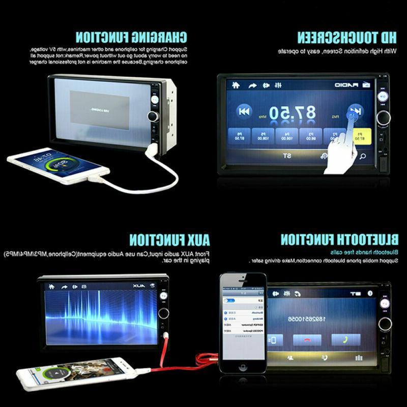 2DIN 7inch Player Radio Screen Rear Camera