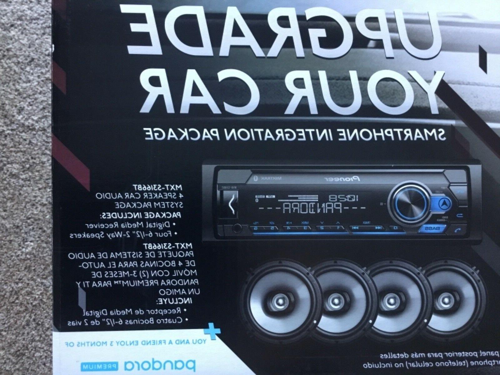 Pioneer Car Stereo Digital Media 200W Bundle