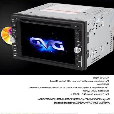 2 DIN Stereo Radio DVD CD Player USB +
