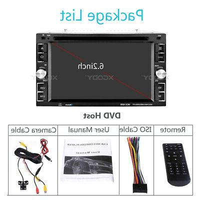 "2 DIN Radio DVD Player 6.2"" Bluetooth USB Camera"