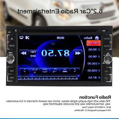 "2 Car Stereo Radio DVD Player 6.2"" Bluetooth USB Camera"