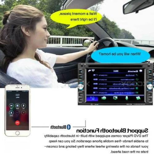 Car CD Touch Screen Bluetooth 2DIN + Rear Cam
