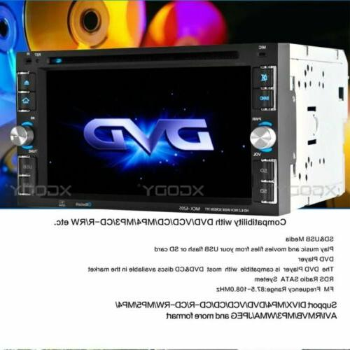 "Car Stereo Radio CD 6.2"" Touch Bluetooth + Cam"