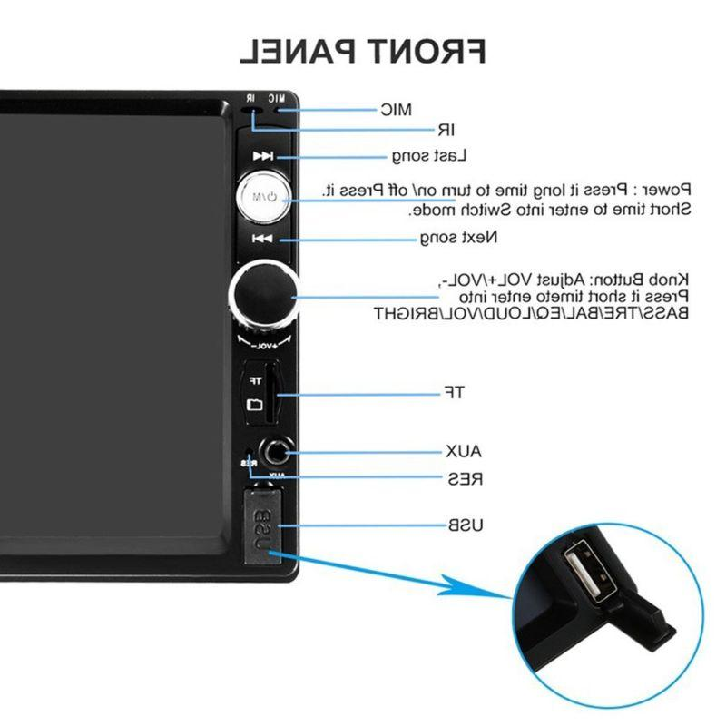 Bluetooth Car Stereo Double HD MP5 Touch
