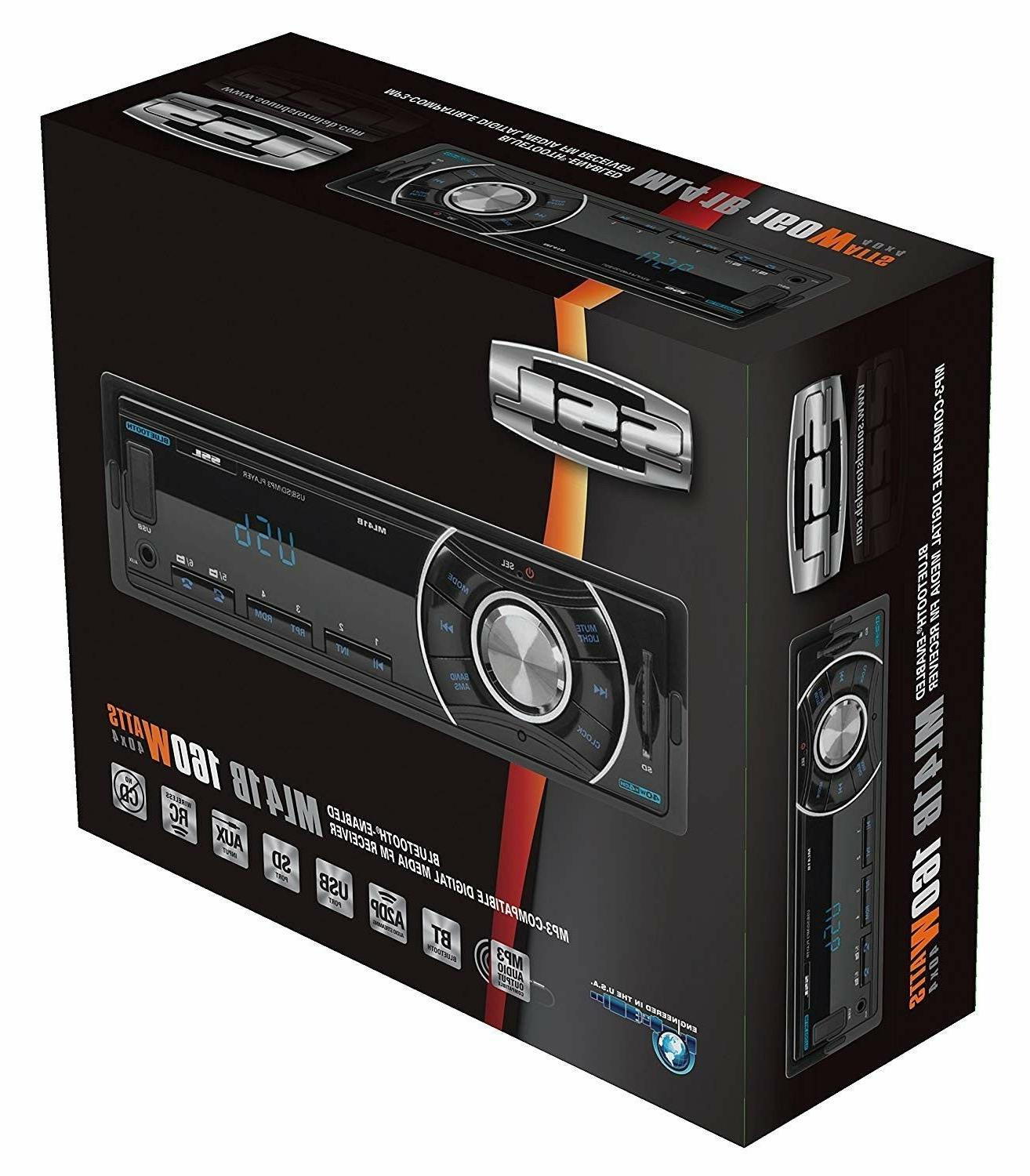 Car Stereo with Bluetooth Single Din MP3 Player