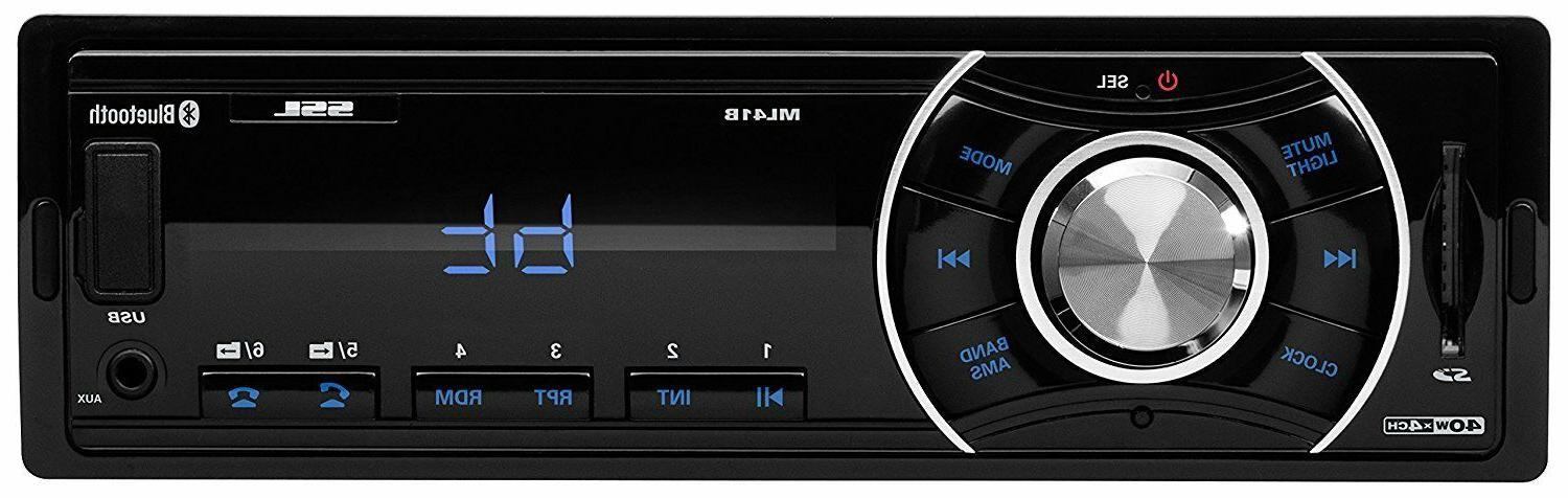 car stereo with bluetooth single din car