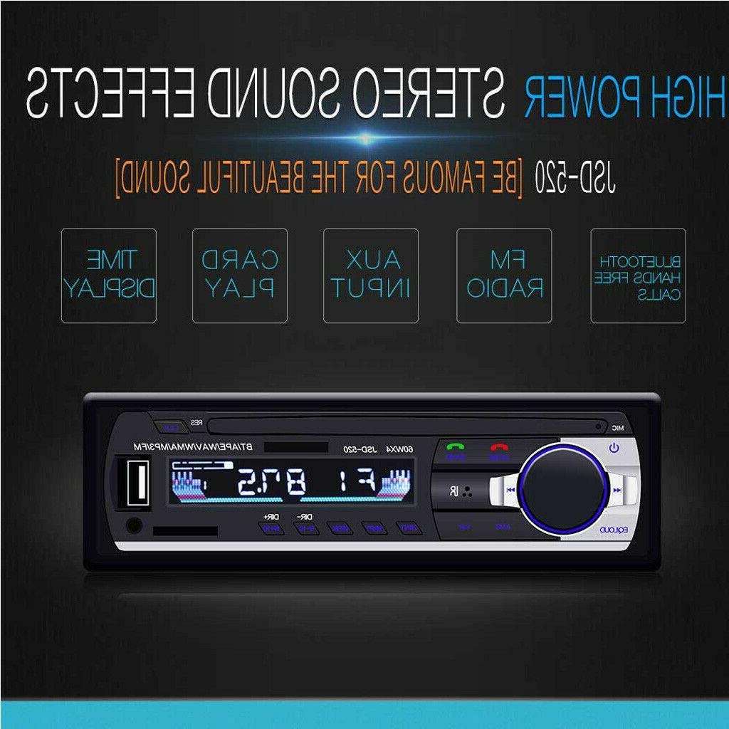 Bluetooth Stereo In-Dash FM Aux Receiver SD USB Radio