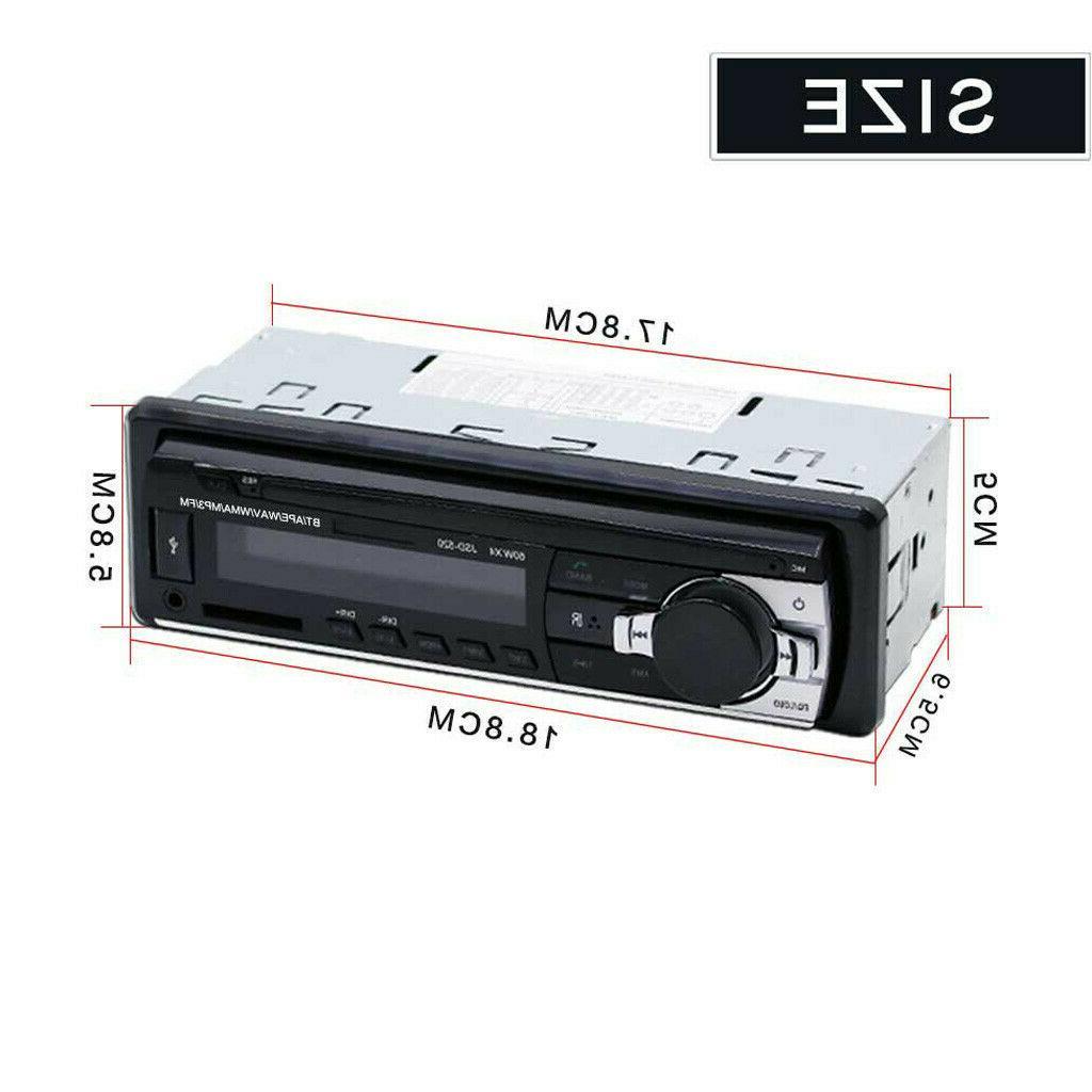 Bluetooth Car In-Dash FM Receiver USB MP3 Radio