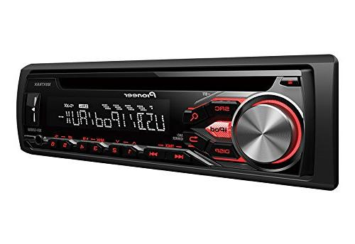 Pioneer DEH-X2800UI Car Player 56 W RMS - - Single - Detachable In-dash LED-LCD Display - CD-DA, WAV, - FM - x FM, - USB Input