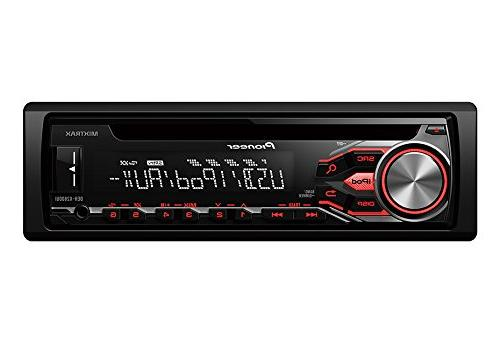 Pioneer DEH-X2800UI Car CD/MP3 Player - 56 W RMS Compatible - Single DIN - Detachable In-dash - LED-LCD - WAV, FM - 18, 6 x FM, AM Preset - Input
