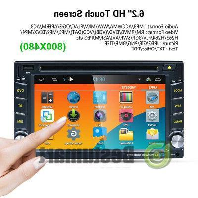 Double Din Car Stereo DVD MP3 HD Dash Bluetooth Radio