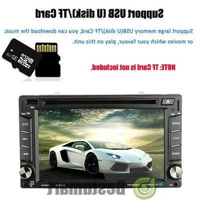 "Double 6.2"" Car Stereo DVD MP3 HD Dash Camera"