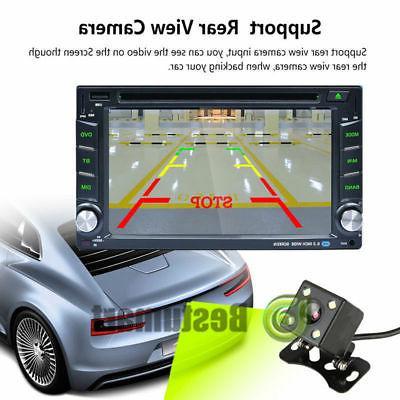 Car Stereo DVD MP3 Player HD Dash Bluetooth Radio Camera