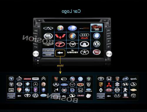 Double Din Universal Car Car DVD Dash