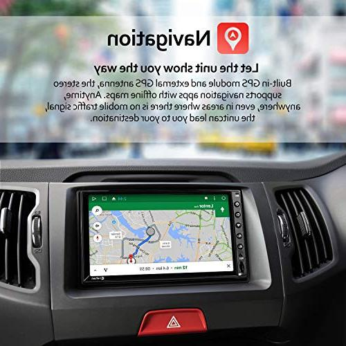 Double Din Android Stereo inch Touch Dash Multimedia Player WiFi