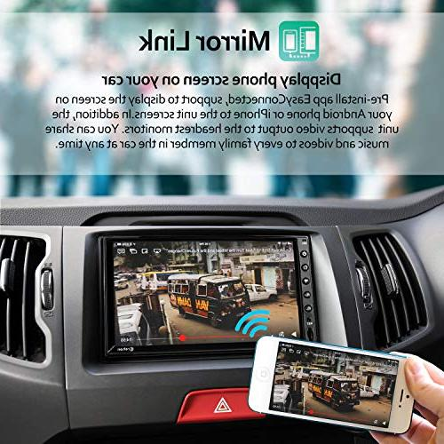 Double Stereo 7 inch Touch in Multimedia WiFi GPS Navigation System